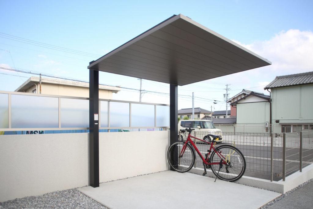 自転車置き場 フェンス(採光パネル)